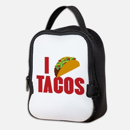 I Love Tacos Neoprene Lunch Bag
