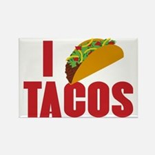I Love Tacos Rectangle Magnet