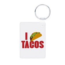 I Love Tacos Aluminum Photo Keychain