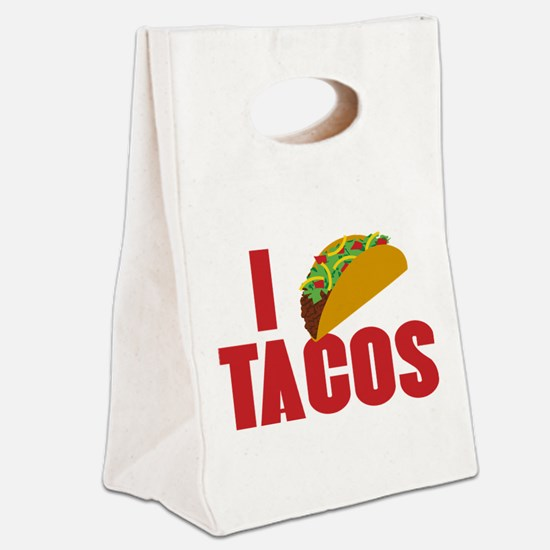 I Love Tacos Canvas Lunch Tote