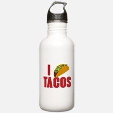I Love Tacos Water Bottle