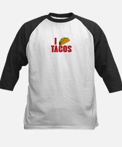 I Love Tacos Kids Baseball Jersey