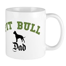Pit Bull Dad 3 Small Mugs