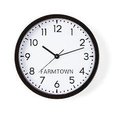 Farmtown Newsroom Wall Clock