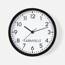 Farmville Newsroom Wall Clock