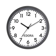 Fedora Newsroom Wall Clock