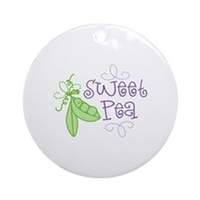 Sweet Pea Ornament (Round)