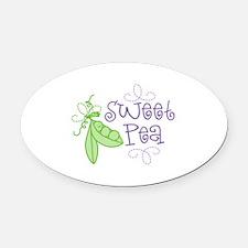 Sweet Pea Oval Car Magnet
