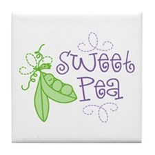 Sweet Pea Tile Coaster
