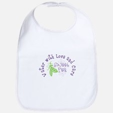Sweet Pea Water With Love and Care Bib