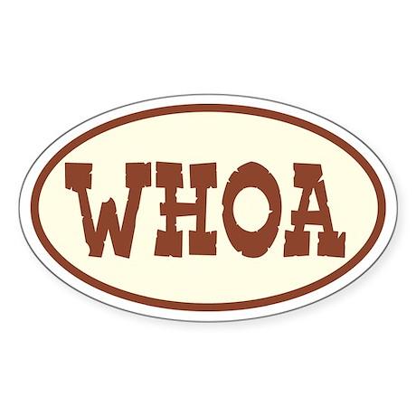Whoa Oval Oval Sticker
