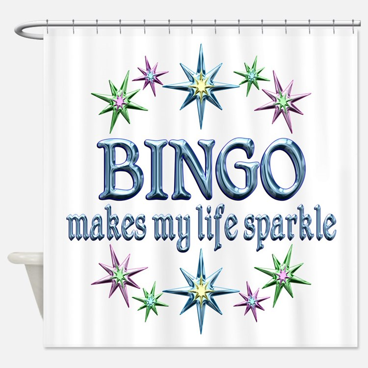 Bingo Sparkles Shower Curtain