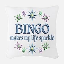 Bingo Sparkles Woven Throw Pillow