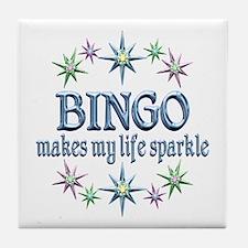 Bingo Sparkles Tile Coaster