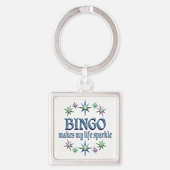 Bingo Sparkles Square Keychain