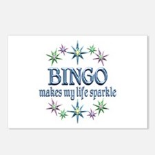 Bingo Sparkles Postcards (Package of 8)