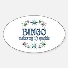 Bingo Sparkles Sticker (Oval)