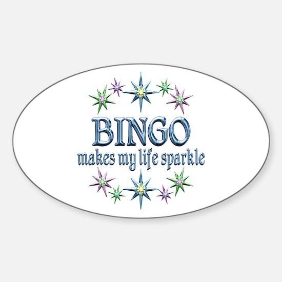 Bingo Sparkles Sticker (Oval)