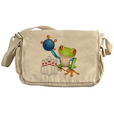 Tree Bowling Frog  Messenger Bag