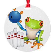 Tree Bowling Frog  Ornament
