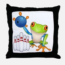 Tree Bowling Frog  Throw Pillow