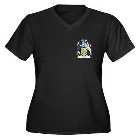 Strother Women's Plus Size V-Neck Dark T-Shirt