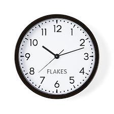 Flakes Newsroom Wall Clock