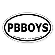 "Peterson Branch, NC ""PBBOYS"" Oval Decal"