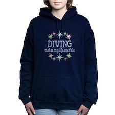 Diving Sparkles Women's Hooded Sweatshirt