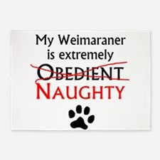 Naughty Weimaraner 5'x7'Area Rug