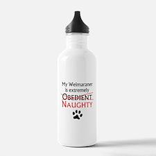 Naughty Weimaraner Water Bottle