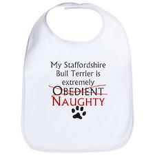 Naughty Staffordshire Bull Terrier Bib