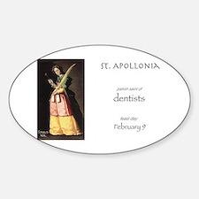 st. apollonia, patron saint of dent Sticker (Oval)