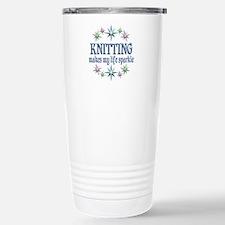 Knitting Sparkles Travel Mug