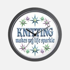 Knitting Sparkles Wall Clock