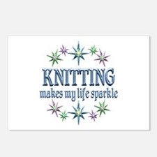 Knitting Sparkles Postcards (Package of 8)