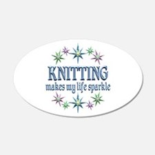 Knitting Sparkles Wall Decal