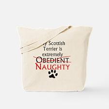 Naughty Scottish Terrier Tote Bag