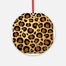 Jaguar Fur Pattern Ornament (Round)