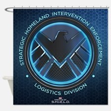 Agents of Shield Full Bleed Shower Curtain