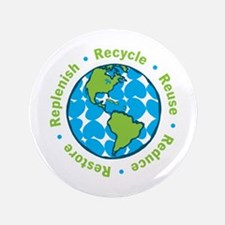 """Recycle 3.5"""" Button"""