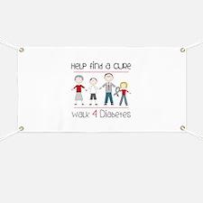 Help Find A Cure Walk 4 Diabetes Banner