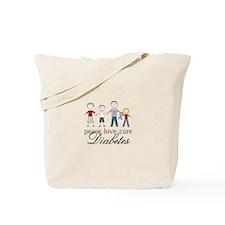 Peace Love Cure Diabetes Tote Bag