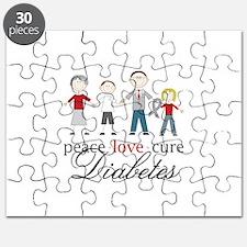 Peace Love Cure Diabetes Puzzle
