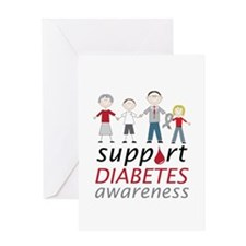 Support Diabetes Awarness Greeting Cards