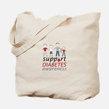 Support Diabetes Awarness Tote Bag