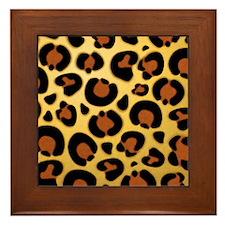 Jaguar Fur Pattern Framed Tile