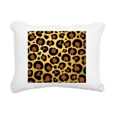 Jaguar Fur Pattern Rectangular Canvas Pillow