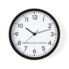 Fornells De La Selva Newsroom Wall Clock