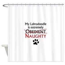 Naughty Labradoodle Shower Curtain